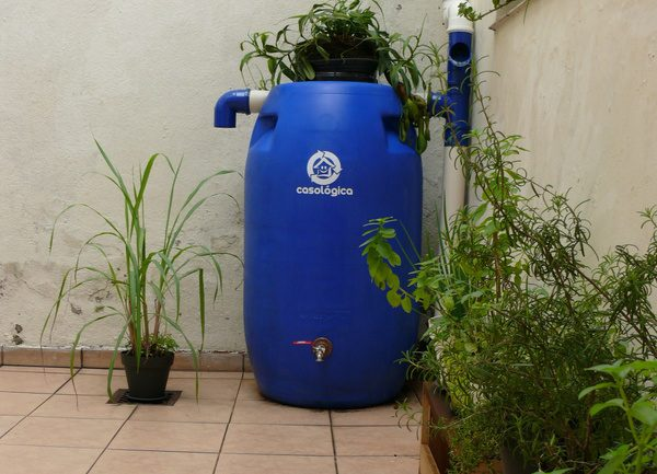 cisterna de água caseira