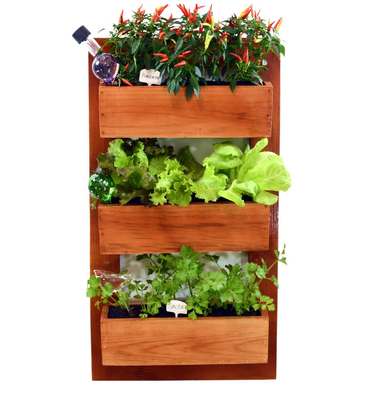 como fazer uma horta em vasos : horta vertical